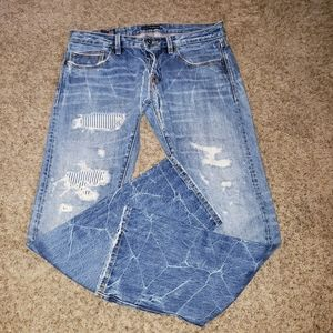 CULT OF INDIVIDUALITY REBEL STR8 DISTRESSED JEANS